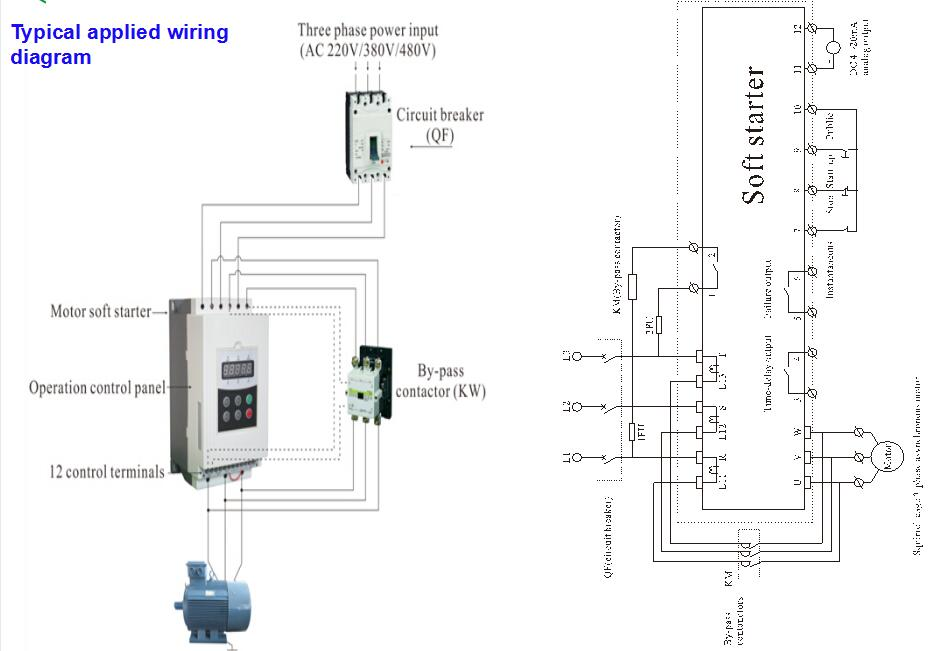 Control Wiring Diagram Of Soft Starter on ac fan motor wiring diagram
